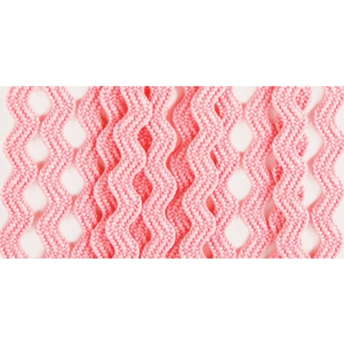 Wrights 117-400-216 Polyester Baby Rick Rack Utility Trim, Candy Pink, 4-Yard