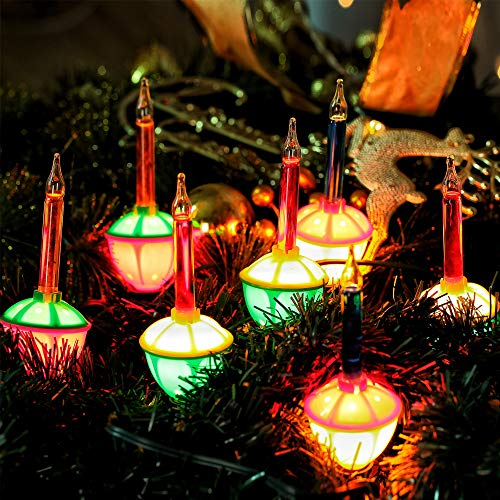 HAYATA 7 Count Color Christmas Bubble Lights - 6.6ft UL-Listed Vintage Christmas String Lights for Christmas Tree Lighting Decor, Indoor, Wreath, Garland, Xmas, Party, House, Christmas Decorations