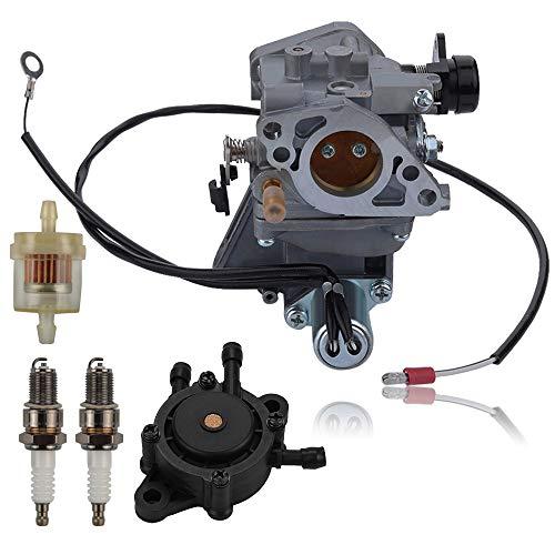 Alibrelo GX 610 Vergaser für Honda GX610 18HP GX620 20HP V-Twin Motoren mit Kraftstoffpumpe Zündkerze Kraftstofffilter ersetzen 16100-ZJ0-871 16100-ZJ0-872 16100-ZJ1-872