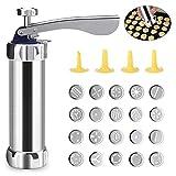 Achort Kit Máquina Galletas 20 Piezas Aluminio con Discos y Boquillas 20 Discos de Acero Inoxidable y 4 Boquillas para...