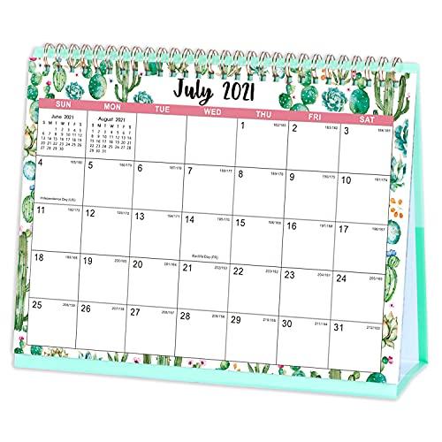 Eono by Amazon - Schreibtischkalender 2021-2022, Von Juli 2021 bis Dezember 2022, Standing Flip 2021-2022 Desktop-Kalender, 10