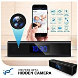 Hidden Spy Camera 1080P WiFi Clock Camera with Motion Detection Spy Camera Mini with Night Vision Mini Camera Hidden Wireless with Playback