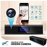 Caméra Espion,1080P Mini Camera Espion WiFi Réveil Caméra de Surveillance de Vision Nocturne...