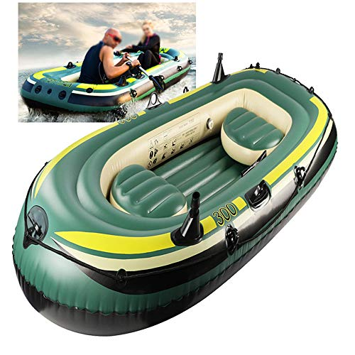 ACEWD Schlauchboot 3 Personen, Kajak Boot Plastik, Aufblasbares Boot Pool, Ruderboot Angelboot (230 * 130 * 35Cm)