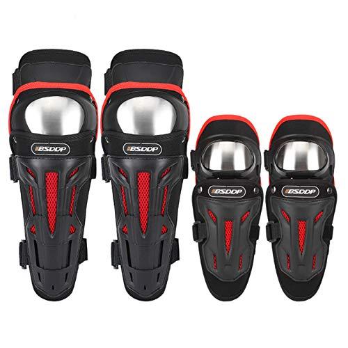 Rubyu-123 Juego de protectores para codos, rodilleras y coderas, con tirantes ajustables para moto, bicicleta, carreras, esquí, patinaje sobre ruedas.