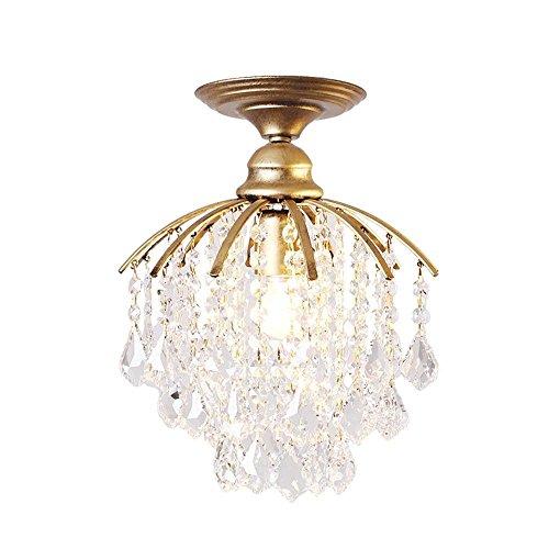 Moderne kreative Kristall Anhänger Kronleuchter personalisierte Gold Deckenleuchte Innen beleuchtung Bügeleisen Lampenfassung Klar höherer Glanz Ø28cm 1*E27