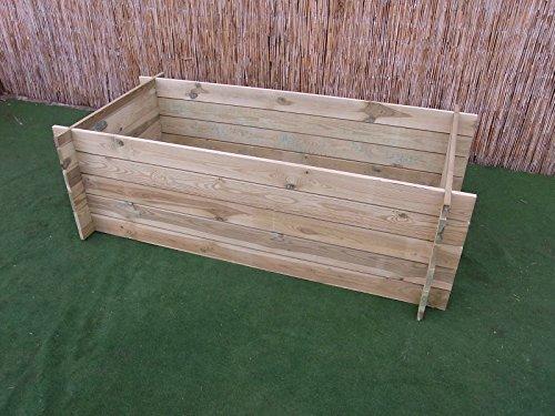 BIHL Stabiler Holzkomposter Komposter Kompostbehälter Hochbeet 170 x 85 x 52 cm 19 mm
