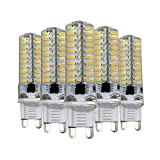 BANANAJOY G9 Dimmable Bombilla de silicona 4014 SMD 80LED Doble aguja lámpara de ahorro de energía 5W (50W Halogen equivalente) Bombilla LED Adecuada para iluminación para el hogar CA 110V / AC 220V (