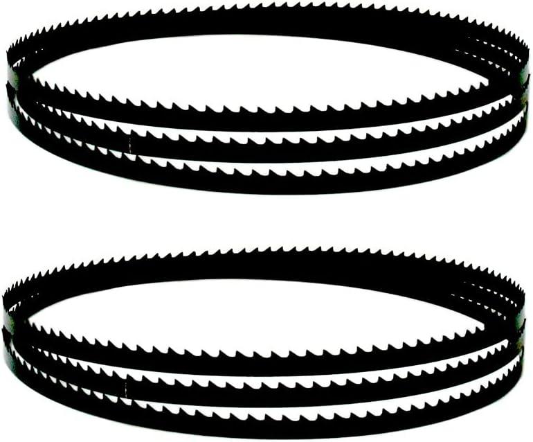 FMingNian 2pcs Bandsaw Blades 1565mm 2240mm 3 4 6 10 14 TPI para Metabo para Dewa T 6.5 10 13mm Ancho Ancho Banda Sierra Hoja de carpintería Herramientas (tamaño : 2240x13x0.5mm 6T)