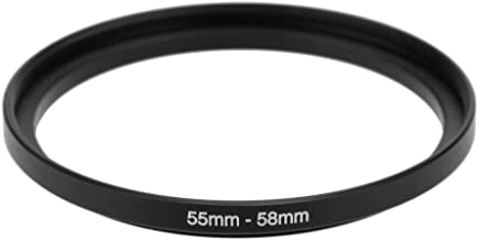 Adapter Ring SODIAL R  55-58mm Metal adapter ring Intensification accessory for lens Black