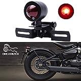 DREAMIZER 12V Luz de Freno de Motocicleta, Rojo Moto LED Luces Traseras para Bobber Chopper Cruiser Dyna Glide Sportster