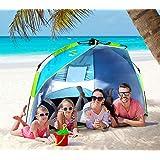 Nacuwa サンシェードテント ワンタッチテント 2-3人用 UPF50+ ビーチ ブール アウトドア・運動会に最適 撥水加工 紫外線防止 キャリーバッグ付き