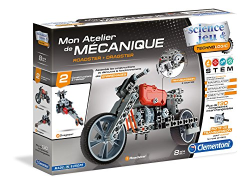 Clementoni - 52216-Atelier Mécanique - Roadster & Dragster-Jeu scientifique