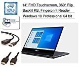 Asus VivoBook Flip 14.0' Full HD Touchscreen 2-in-1 Laptop, Quad Core i5-8250u, Backlit Keyboard, Fingerprint Reader, Windows 10 Pro + CUE Accessories (8GB DDR4 | 512GB SSD)