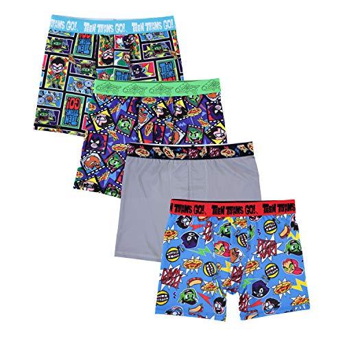 DC Comics Boys' Big Teen Titans Athletic Boxer Brief, Titanium, 8