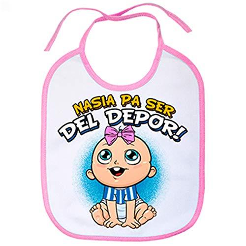 Babero nacida para ser del Depor Coruña fútbol - Rosa