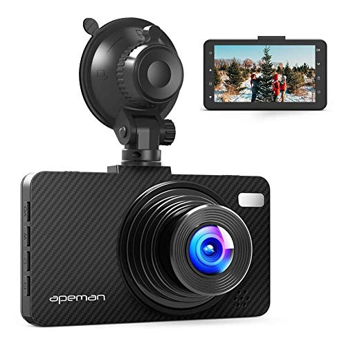 APEMAN Dash Cam FHD 1080P Car Camera with 3' LCD Screen, 170° Wide Angel, G-Sensor, WDR, Loop Recording, Motion Detection, Night Vision