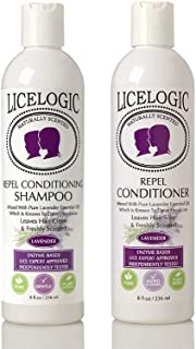LiceLogic Lice Prevention Shampoo and Conditioner Set Made with Natural LICEZYME | Non Toxic Formula Safe for Daily Use | ...