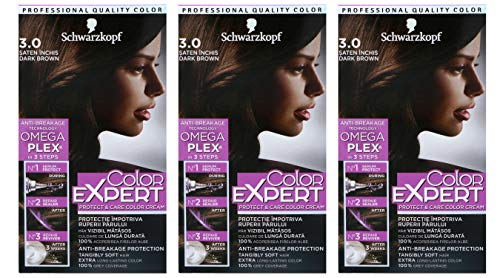 3x Schwarzkopf Color Expert Intensiv-Pflege Color-Creme 3.0 Dunkles Braun 3er Pack