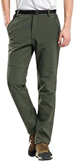 Bofu Thick Thermal Men Winter Windproof Hiking Snow Ski Pants Workwear Trousers Lined