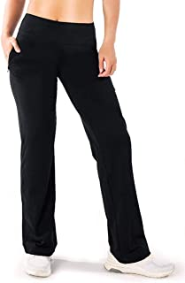 """Yogipace 29""""/31""""/33""""/35"""", Petite/Regular/Tall Women's Quick Dry Travel Pants Lycra Everyday Pant with Zipper Pockets, Wome..."""