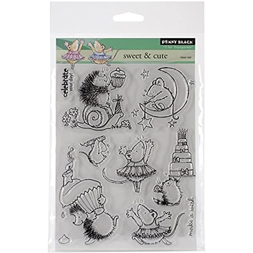 Penny Black Decorative Rubber Stamps, Sweet and Cute (30-153)