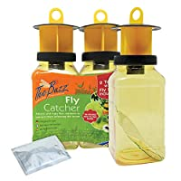 Packaging may vary due to a rolling brand change, the product remains the same Twin pack of fly traps: outdoor fly traps with super-effective insect attractant included for each bottle; flies get in but can't get out Outdoor use: Suitable for use in ...