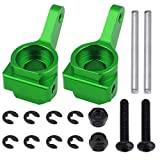 Hobbypark Aluminum Front Steering Blocks Upgrade Parts for 1/10 Traxxas 2WD Slash, Rustler, Stampede, Bandit, Replace 3736, Green Anodized