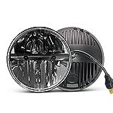 7 inch LED Headlight Round 2PCS E-MARK Approved 6000K Hi/lo Beam lamp, UNI-SHINE,J004-2pcs