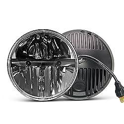 Amazon Com 7 Inch Led Headlight Round 2pcs E Mark Approved 6000k Hi Lo Beam Lamp Uni Shine J004 2pcs Automotive