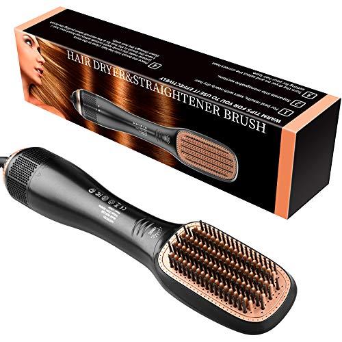 【2020 Upgrade】Haarglätter Bürste Föhnbürste, 1200W Schnelles Erhitzen Glättungsbürste Ionisches Haartrockner, 3 Temperatur Elektrische Haarbürste Glättbürste für Alle Haartypen