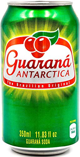 Guaraná Antarctica Guaraná Flavoured Soft Drink Made From Amazon Rainforest Fruit Imported from Brazil 350ml/1183 Fl Oz Pack of 12