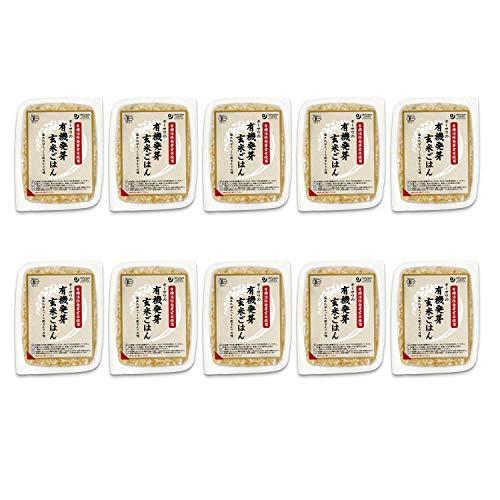オーサワ 有機活性発芽玄米ごはん 160g×10個                     EAN: 4932828006093