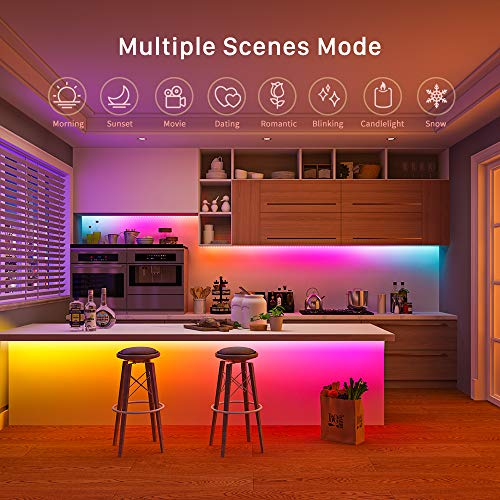 MINGER DreamColor LED Strip Lights with Smart Music Sync