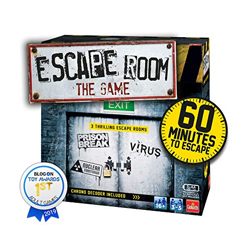 Goliath Games IG40643 Escape Room The 3 Pack Juego Familiar para 16+, Multi