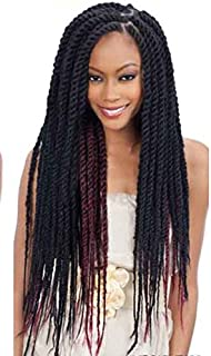 New Amour Hair Collection Malibu Kinky Afro Braid 4 Pcs 60 Inch SUPER SIZE! #2 Just like-Cuban Twist Braid-Double Strand Style Hair