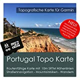 Portugal Carte Garmin Topo 4Go Micro SD Carte de loisirs. Carte Topographique GPS...
