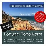 Portugal Carte Garmin Topo 4Go Micro SD Carte de loisirs. Carte Topographique GPS pour vélo randonnée Randonnée Trekking Geocaching & Outdoor. GPS, PC et Mac