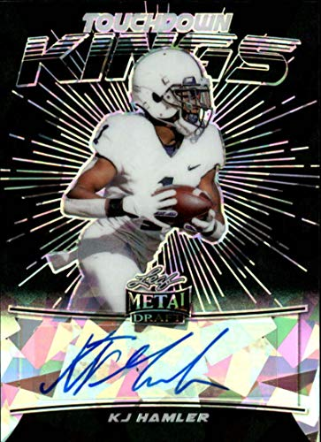 2020 Leaf Metal Draft Touchdown Kings Autograph Crystal Black Football S4#TK-KH2 KJ Hamler Auto Penn State Nittany Lions Official Player Licensed Rookie Card