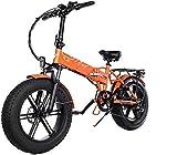 Bici electrica, 500w plegable bicicleta eléctrica de montaña adultos E bicicletas con 48v12.5a de 7 velocidades batería de litio bicicleta eléctrica cambios de marcha con bloqueo eléctrico rápido carg