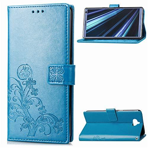 Hülle für Sony Xperia 10 Hülle Handyhülle [Standfunktion] [Kartenfach] [Magnetverschluss] Tasche Etui Schutzhülle lederhülle klapphülle für Sony Xperia 10 - JESD051787 Blau