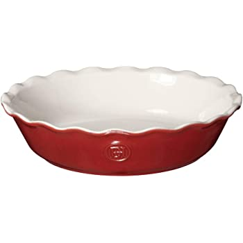 """Emile Henry Modern Classics Pie Dish, 9"""", Rouge Red"""