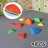H&G 9Pcs Flusssteine Balancespiel Bouncing River Stones Kids Stepping Stones, Balancierspiel, Kinder, Kindergarten,Verschiedene Größen, 4 Farben,9pcs