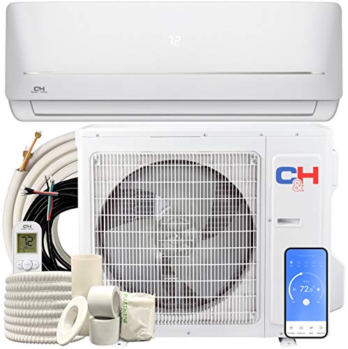 24,000 BTU, 230V, 17 SEER Ductless Mini Split AC/Heating System WiFi Pre-Charged Inverter Heat Pump with 16ft Installation Kit