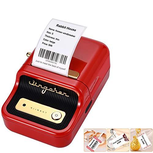 Aibecy Etikettendrucker Wireless BT Thermal Labelmaker Aufkleberdrucker mit RFID-Erkennung Ideal für Supermarktbekleidung Schmuck Einzelhandelsgeschäft Home Labeling Barcodes Preis Name Drucken
