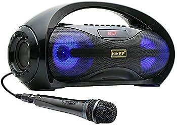 Hikep Portable Bluetooth Karaoke Speaker with Handled Microphone
