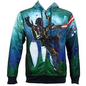 Star Wars Boba Fett Flying sudadera con capucha de forro polar Sublimated 13