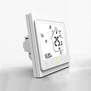 CHUANG TIANG Wireless Room Thermostat,LCD Display Temperature Controller Compatible with Alexa Google, Thermostat Central Heating Control