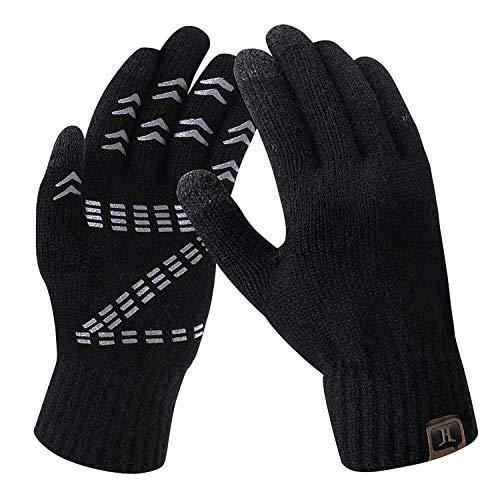 Winterhandschuhe für Herren Mischgewebe Fleece Z-Form Offsetdruck Handschuh Männer Warme Wintersport handschuhe Outdoor Fitness Garten Handschuhe Finger Touchscreen Handschuhe Rutschfest