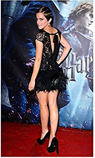 Emma Watson In Black Mini Dress on Red Carpet At Harry Potter Deathly Hallows Part 1 Premiere 8 x 10 Inch Photo